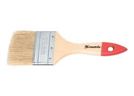 Кисть плоская «Стандарт» 2,5″ (63 мм), натуральная щетина, деревянная ручка Matrix