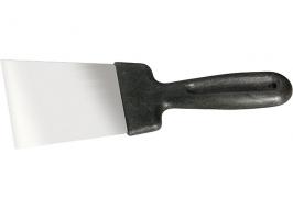 Шпательная лопатка из нержавеющей стали, 40 мм, пластмассовая ручка СибрТех