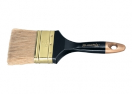 Кисть плоская «Профи» 2,5″, натуральная щетина, деревянная ручка Matrix