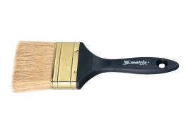Кисть плоская «Профи» 1,5″, натуральная щетина, пластмассовая ручка Matrix