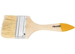 Кисть плоская Slimline 4″ (100 мм), натуральная щетина, деревянная ручка Sparta
