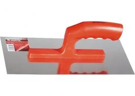 Гладилка стальная, 280 х 130 мм, зеркальная полировка, пластмас. ручка Matrix