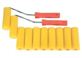 Набор мини-валиков «ПОРОЛОН», 100 мм, D — 35 мм, D ручки — 6 мм, 10 шт. + 2 бюгеля Sparta