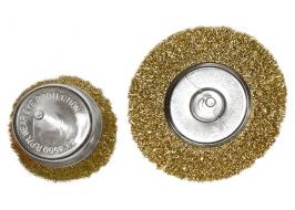 Набор щеток для дрели, 2 шт., 1 плоская, 100 мм, + 1 «чашка», 75 мм, со шпильками, мет. Matrix