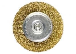 Щетка для дрели, 50 мм, плоская со шпилькой, латунированная витая проволока Matrix