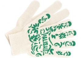 Перчатки садовые х/б, ПВХ узор «летний сад», 10 класс, Palisad