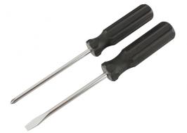 Отвертка Ph2 100 мм, углеродистая сталь, черная пластиковая рукоятка Sparta