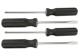 Набор отверток 4 шт SL5, SL6, Ph, Ph2-100 мм, углеродистая сталь, пластиковая рукоятка Sparta