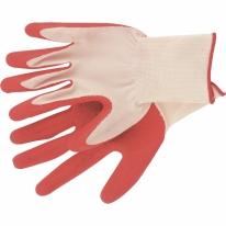 Перчатки вязаные полиэфирные с рельефным покрытием из нат. латекса, 15 класс, 57гр. СибрТех