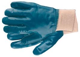 Перчатки рабочие из трикотажа с нитриловым обливом, манжет L СибрТех