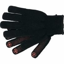 Перчатки вязаные хлопкоэфирные плюшевые, ПВХ «точка», 7 кл., 55 гр. СибрТех