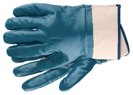 Перчатки рабочие из трикотажа с нитриловым обливом, крага, L СибрТех