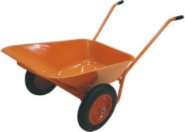 Тачка садово-строительная ТСО-2-02, крашенный кузов, двухколесная, пневмоколесо, 120 кг, объем 90 л
