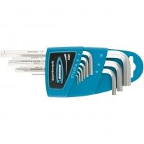 Набор ключей имбусовых TORX-TT, 9 штук: T10-T50, удлиненные, S2, сатинированные Gross