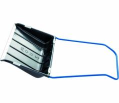 Скрепер для снега 750 х 550 х 1,3 мм, пластиковый, П-образная ручка, металлич., окантовка СибрТех
