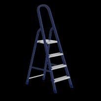 Стремянка, 4 ступеней, стальная, оцинкованные ступени СибрТех