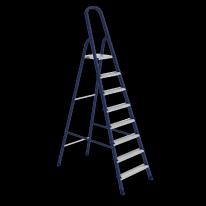Стремянка, 8 ступеней, стальная, оцинкованные ступени СибрТех