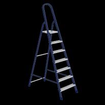 Стремянка, 7 ступеней, стальная, оцинкованные ступени СибрТех