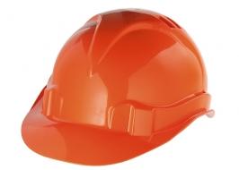 Каска защитная из ударопрочной пластмассы, оранжевая СибрТех