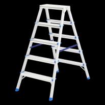 Стремянка двусторонняя 5 ступеней , алюминиевая СибрТех