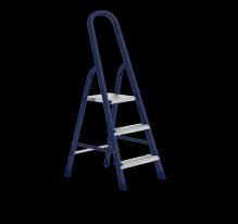 Стремянка, 3 ступеней, стальная, оцинкованные ступени СибрТех