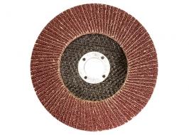 Круг лепестковый торцевой КЛТ-1, зернистость Р80(16Н), 125 х 22,2 мм, (БАЗ) Россия