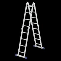 Лестница шарнирная алюминиевая, 4х4 СибрТех