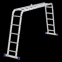 Лестница шарнирная алюминиевая, 2х4+2х5 СибрТех