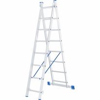 Лестница, 2 х 8 ступеней, алюминиевая, двухсекционная СибрТех