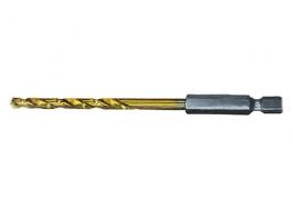 Сверло по металлу, 4 мм, HSS, нитридтитановое покрытие, 6-гранный хвостовик Matrix