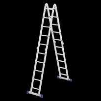 Лестница шарнирная алюминиевая, 4х5 СибрТех