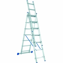 Лестница, 3 х 9 ступеней, алюминиевая, трехсекционная СибрТех