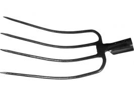 Вилы четырех-рогие, 235×330 мм, без черенка сенные СибрТех