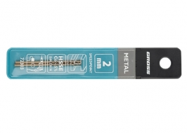 Сверло спиральное по металлу, 2.5 мм, HSS-Co, 2 шт. Gross