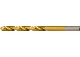 Сверло по металлу, 4 мм, HSS, нитридтитановое покрытие, цилиндрический хвостовик Matrix
