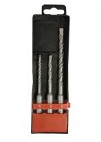 Набор буров по бетону, 5х110, 6х110, 8х160 мм, 3 шт., в пластиковой коробке, SDS PLUS Matrix