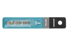 Сверло спиральное по металлу, 2.0 мм, HSS-Co, 2 шт. Gross