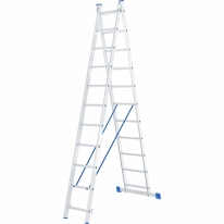 Лестница, 2 х 11 ступеней, алюминиевая, двухсекционная СибрТех