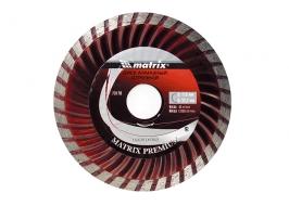 Диск алмазный отрезной Turbo, 200 х 22,2 мм, сухая резка Matrix Professional