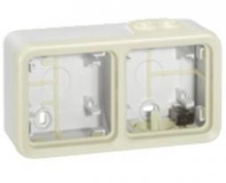 Коробка 2 постовая белая Legrand Plexo IP55