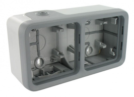 Коробка 2 постовая серая Legrand Plexo IP55