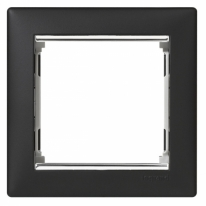 Рамка 1 пост ноктюрн/серебряный штрих Legrand Valena