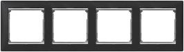 Рамка 4 поста ноктюрн/серебряный штрих Legrand Valena