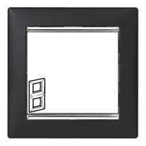 Рамка 2 поста вертикальная ноктюрн/серебряный штрих Legrand Valena