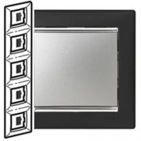 Рамка 5 постов вертикальная ноктюрн/серебряный штрих Legrand Valena