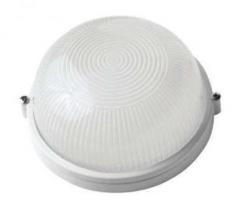 Светильник пылевлагозащищенный термостойкий НПП-100 Вт круглый без решетки IP54