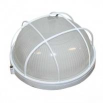 Светильник пылевлагозащищенный термостойкий НПП-100 Вт круглый с решеткой IP54