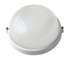 Светильник пылевлагозащищенный термостойкий НПП-60 Вт круглый без решетки IP54