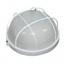 Светильник пылевлагозащищенный термостойкий НПП-60 Вт круглый с решеткой IP54