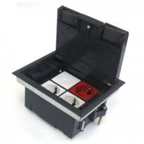 Люк в пол на 4 модуля с суппортом и коробкой, стальной (45х45мм)